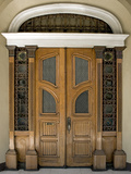 Art Nouveau Style Door, Iloilo, Philippines, Southeast Asia, Asia Photographic Print by Luca Tettoni