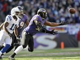 NFL Playoffs 2013: Colts vs Ravens - Ray Lewis Fotografisk trykk av Gail Burton