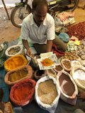 Spice Stall at Desia Kondh Tribal Market, Near Rayagada, Orissa, India Photographic Print by Annie Owen