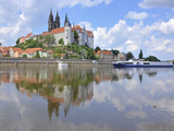 Cruise Ship on the Elbe before the Albrechtsburg in Meissen, Saxony Photographic Print by Michael Runkel
