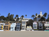 Beach Houses, Santa Monica, Los Angeles, California, United States of America, North America Photographic Print by Wendy Connett