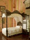 Classic Filipino Style Bedroom, University De La Salle Museum, Dasmarinas, Cavite, Philippines Photographic Print by Luca Tettoni