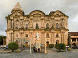 Taal Basilica Dating from 1856, the Largest Church in the Philippines, Philippines, Southeast Asia Photographic Print by Luca Tettoni