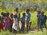 Fishing Village of Zori People from Zambia, Who Migrated to Zambezi River on Caprivi Strip, Namibia Photographic Print by Kim Walker