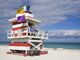 Lifeguard Tower on South Beach, City of Miami Beach, Florida, USA, North America Photographic Print by Richard Cummins