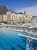 Swimming Pool in La Condamine Area, Monte Carlo, Monaco, Mediterranean, Europe Photographic Print by Richard Cummins