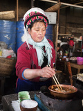 Bai Women Cooking in Markets, Shangri-La (Zhongdian), Yunnan Province, China, Asia Photographic Print by Lynn Gail
