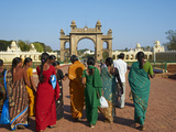 Women in Saris, Maharaja's Palace, Mysore, Karnataka, India, Asia Photographic Print by  Tuul