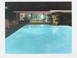 Neutra Pool House Photographic Print by Theo Westenberger