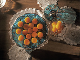 Lecce Flans and Egg Yolk Balls, Filipino Desserts of Spanish Origin, Philippines, Southeast Asia Photographic Print by Luca Tettoni