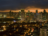 Night View of Makati, Metromanila, Philippines, Southeast Asia, Asia Photographic Print by Luca Tettoni