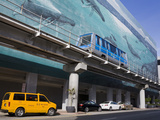 Metromover and Mural by Wyland on Se 1st Street, Miami, Florida, USA, North America Photographic Print by Richard Cummins