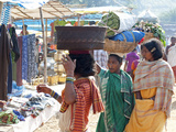 Dunguria Kondh Women Shopping at Tribal Market, Bissam Cuttack, Orissa, India, Asia Photographic Print by Annie Owen