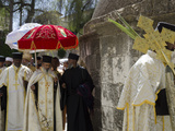Ethiopian Palm Sunday Procession on Roof of Church of Holy Sepulchre, Old City, Jerusalem, Israel Photographic Print by Eitan Simanor