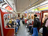 Interior of Subway Train, Toronto, Ontario, Canada, North America Photographic Print by Stuart Dee