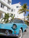 Avalon Hotel and Classic Car on South Beach, City of Miami Beach, Florida, USA, North America Photographic Print by Richard Cummins
