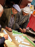 Men Playing Mahjong, Baisha Village, Lijiang, Yunnan Province, China, Asia Photographic Print by Lynn Gail