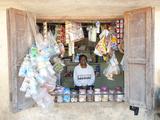 Man Keeping Small Village Shop in Saura Tribal Village, Orissa, India, Asia Photographic Print by Annie Owen