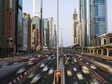 Traffic and New High Rise Buildings Along Sheikh Zayed Road, Dubai, United Arab Emirates Photographic Print by Gavin Hellier