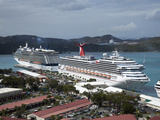 Cruise Ships. Charlotte Amalie, St. Thomas, U.S. Virgin Islands, West Indies, Caribbean Photographic Print by Angelo Cavalli