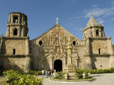 Miagao Church Built in 1797, Restored, UNESCO World Heritage Site, Iloilo, Panay, Philippines Photographic Print by Luca Tettoni