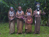 Tribal Chief with His Wives, Pajo, Highlands, Papua New Guinea, Pacific Photographic Print by Michael Runkel