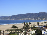 Beach, Santa Monica, Malibu Mountains, Los Angeles, California, Usa Fotografie-Druck von Wendy Connett
