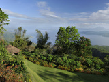 Garden with a View on Taal Lake, Tagaytay, Philippines, Southeast Asia, Asia Photographic Print by Luca Tettoni