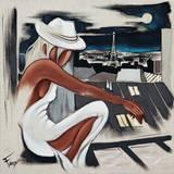 Pensées de Lune Posters par Pierre Farel