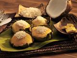Bibinka, a Filipno Snack of Rice and Coconut Pudding, Philippines, Southeast Asia, Asia Photographic Print by Luca Tettoni