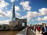 View of London Bridge Showing the Shard in Background, London, England, United Kingdom, Europe Photographic Print by Adina Tovy