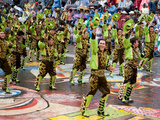 Male Dancers, Oruro Carnival Procession Parade, Oruro, Bolivia, South America Photographic Print by Phil Clarke-Hill