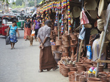 Clay Products at Market, Weligama, Southern Province, Sri Lanka, Asia Photographic Print by Ian Trower