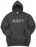 Hoodie: Navy Pullover Hoodie