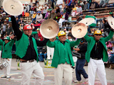 Brass Band, Oruro Carnival Procession Parade, Oruro, Bolivia, South America Photographic Print by Phil Clarke-Hill