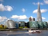 View of the Shard, City Hall and More London Along the River Thames, London, England, UK Photographic Print by Adina Tovy