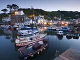 Evening at Polperro Harbour, Polperro, Cornwall, England, United Kingdom, Europe Photographic Print by Adam Burton