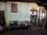 Man Cooking in Roadside Dhaba (Restaurant), Rural Orissa, India, Asia Photographic Print by Annie Owen
