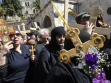 Orthodox Good Friday Processions on the Way of the Cross, Old City, Jerusalem, Israel, Middle East Photographic Print by Eitan Simanor