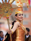 Female Dancer, Oruro Carnival Procession Parade, Oruro, Bolivia, South America Photographic Print by Phil Clarke-Hill