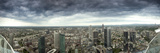 View of Frankfurt Am Main under Stormy Skies, from Maintower Observation Deck, Hesse, Germany Photographic Print by Ian Egner