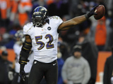 NFL Playoffs 2013: Ravens vs Broncos - Ray Lewis Photographic Print by Jack Dempsey