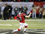NFL Playoffs 2013: Seahawks vs Falcons - Matt Bryant Fotografisk trykk av John Bazemore