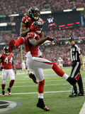 NFL Playoffs 2013: Falcons vs 49ers - Julio Jones Fotografisk trykk av Dave Martin