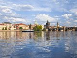 Charles Bridge and the Vltava River, Old Town, UNESCO World Heritage Site, Prague, Czech Republic Photographic Print by Gavin Hellier