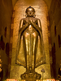 South Facing Buddha Statue, Ananda Pahto, Bagan (Pagan), Myanmar (Burma), Asia Photographie par Richard Maschmeyer