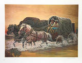 Cowboys Duet Home on the Range Collectable Print by Rockwell Smith