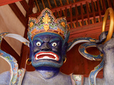 Statue at Entrance of Xingjiao Temple, Sideng Village, Shaxi Old Town, Yunnan, China, Asia Photographic Print by Lynn Gail