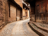 Cobbled Street, Sideng Village, Shaxi, Yunnan, China, Asia Photographic Print by Lynn Gail