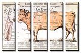 Oksekød: Diagram over forskellige udskæringer Posters